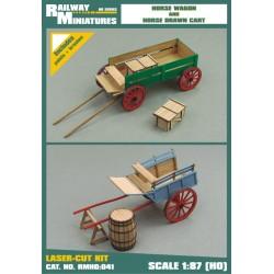 RMH0:041 Horse Wagon and Horse Drawn Cart