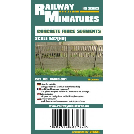 RMH0:061 Concrete Fence Segments